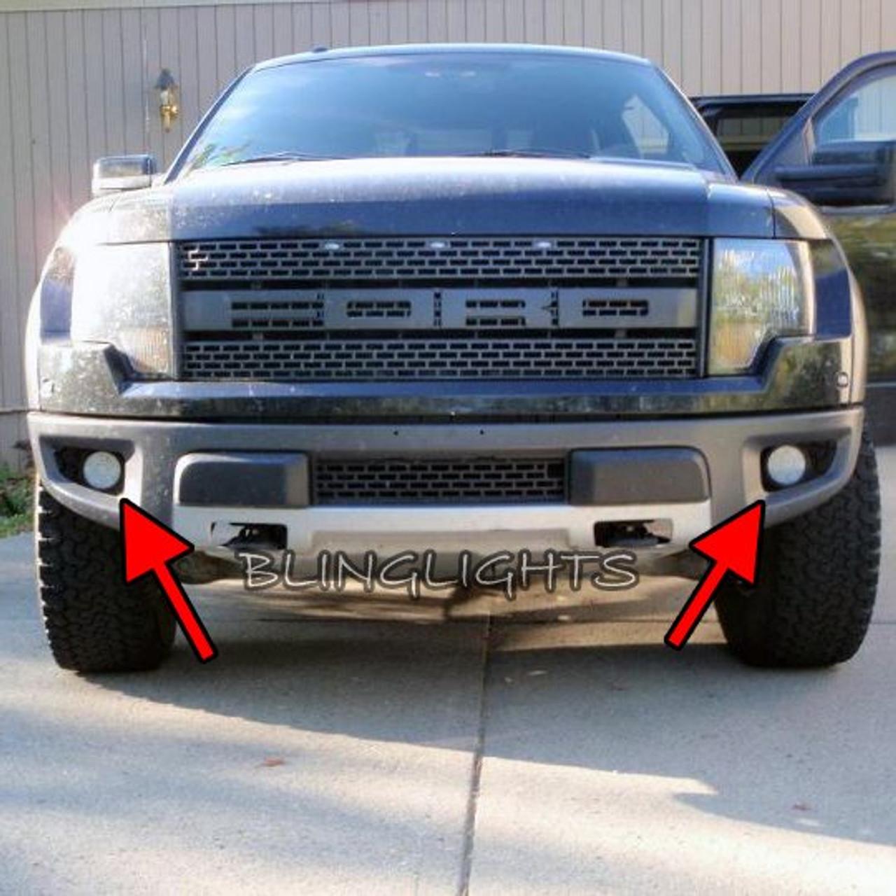 Ford F-150 Raptor SVT LED Fog Lamps Driving Lights Kit F150 Foglamps Foglights Drivinglights