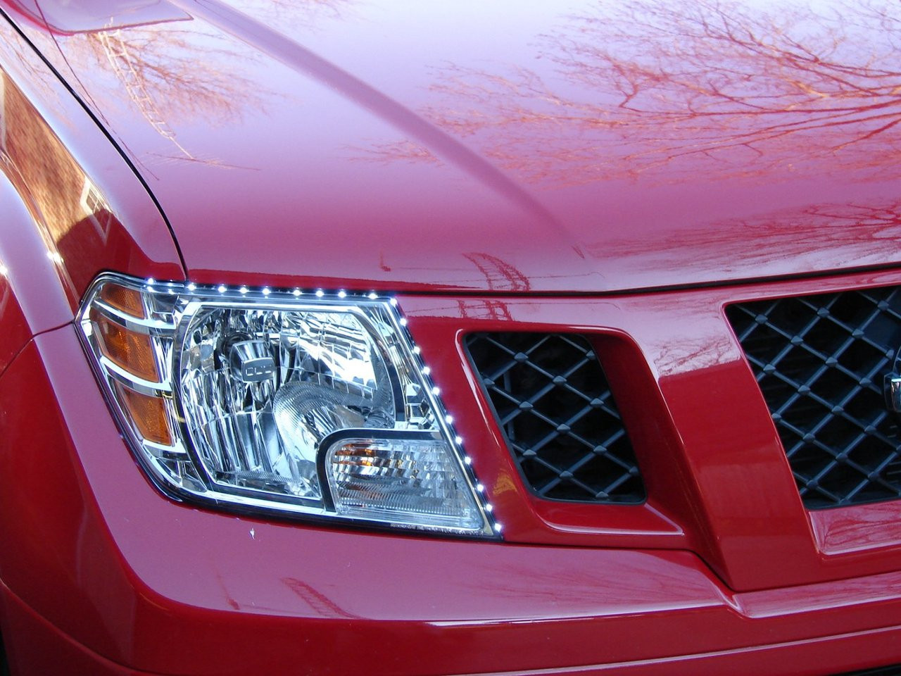 Nissan Frontier LED DRL Head Light Strips Day Time Running Lamps