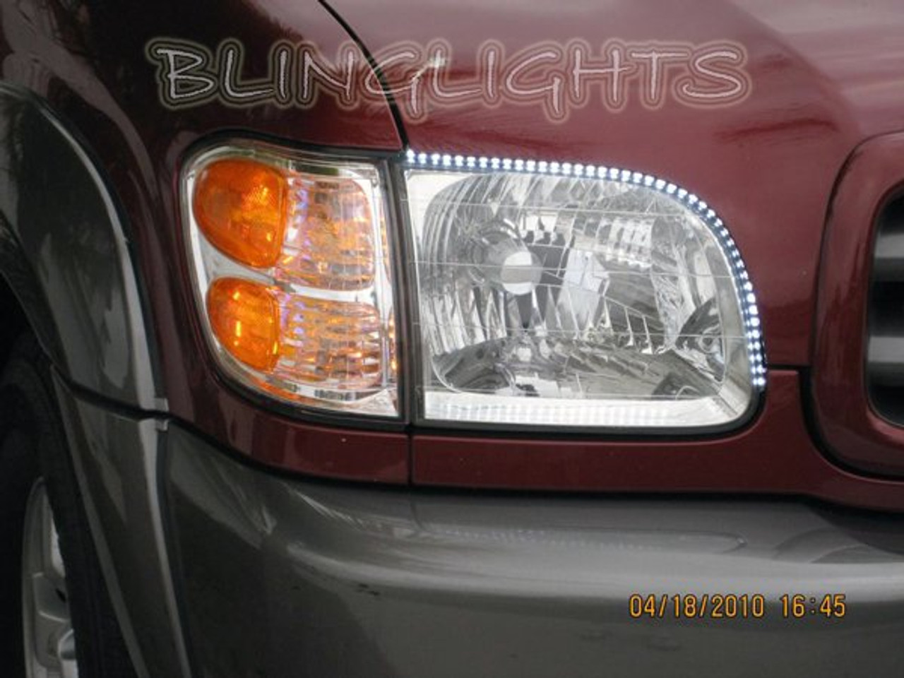 2000-2006 Toyota Tundra LED Head Lamp Strips Day Time Running Lights DRL Kit