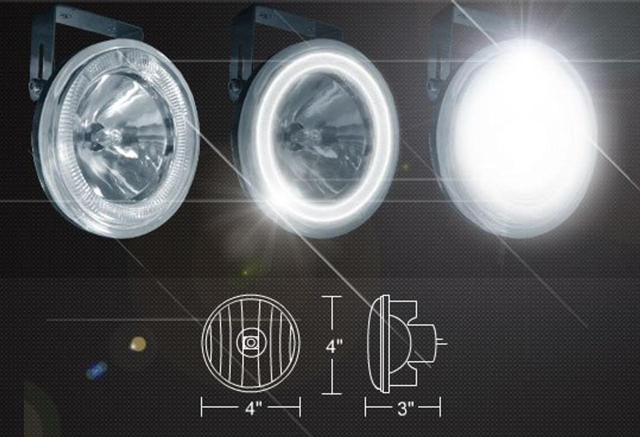 1999-2002 Dodge Ram 2500 Angel Eye Fog Lamps Driving Lights Kit Halo