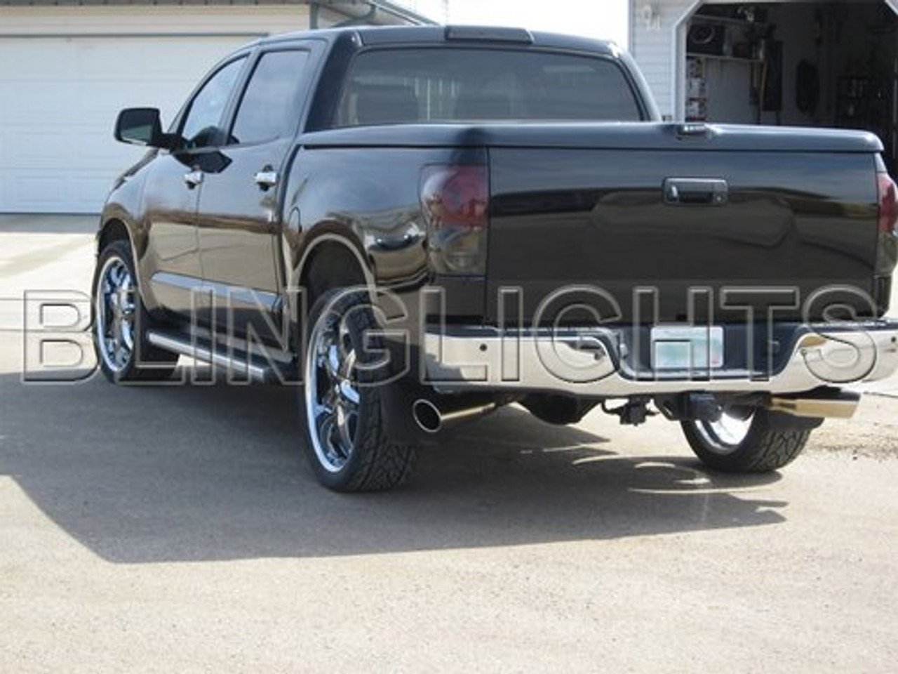 07-13 Toyota Tundra Tinted Tail Lamp Light Overlays Kit Smoked Protection Film