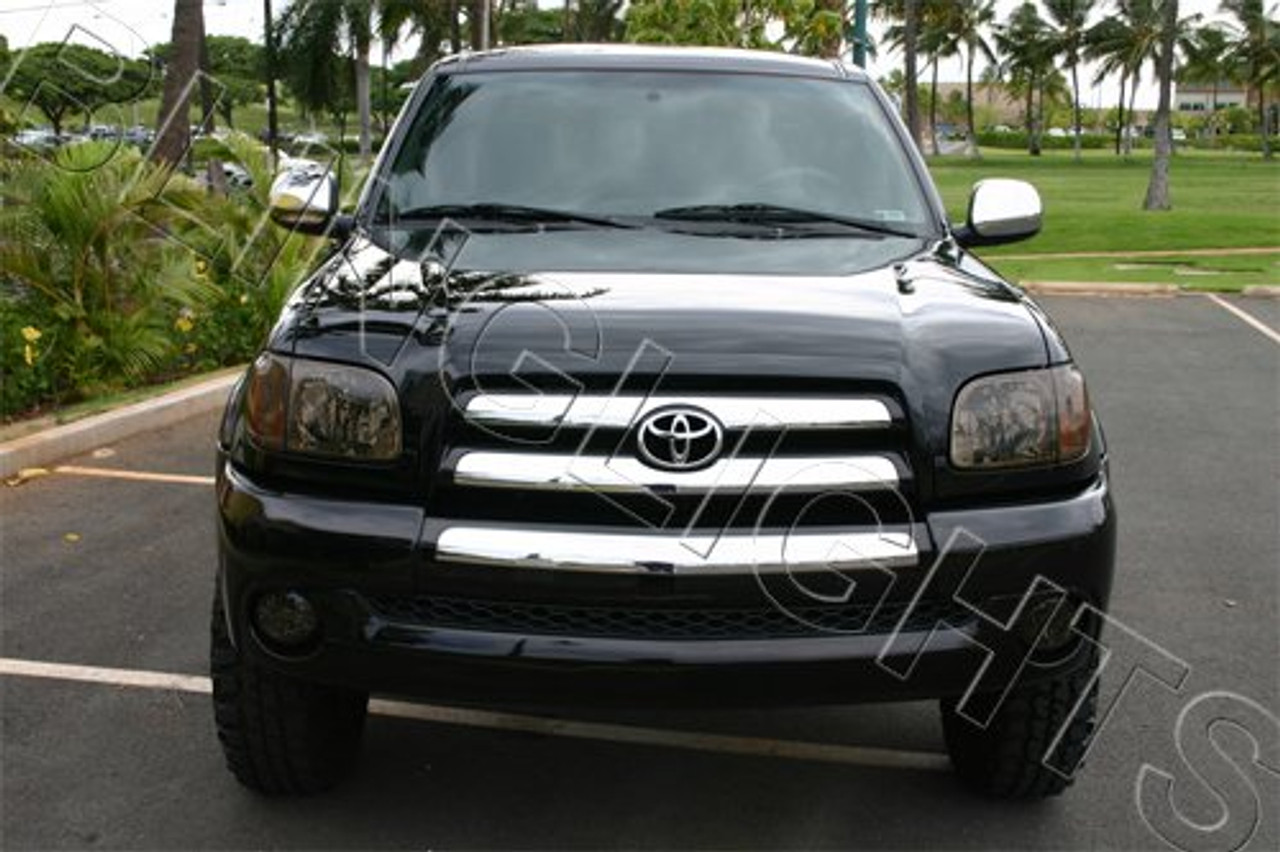 03-06 Toyota Tundra Tinted Head Lamp Light Overlays Kit Smoked Protection Film