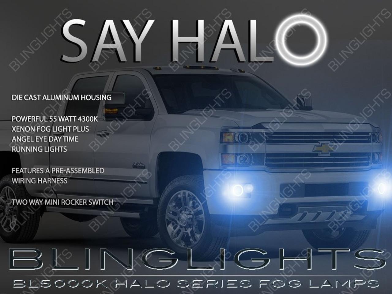 2015 2016 2017 chevrolet silverado 1500 angel eye fog lights lamps kit -  blinglights com