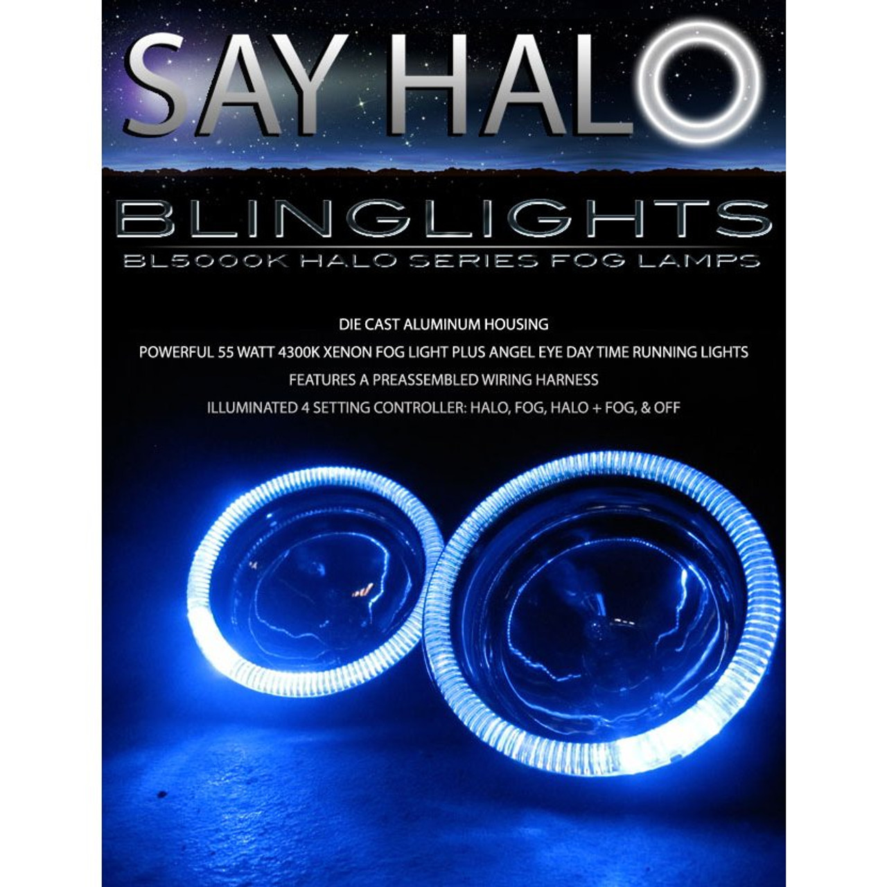 2003 2004 Toyota Hilux Halo Fog Lamps Angel Eye Driving Lights Foglamps Foglights Kit