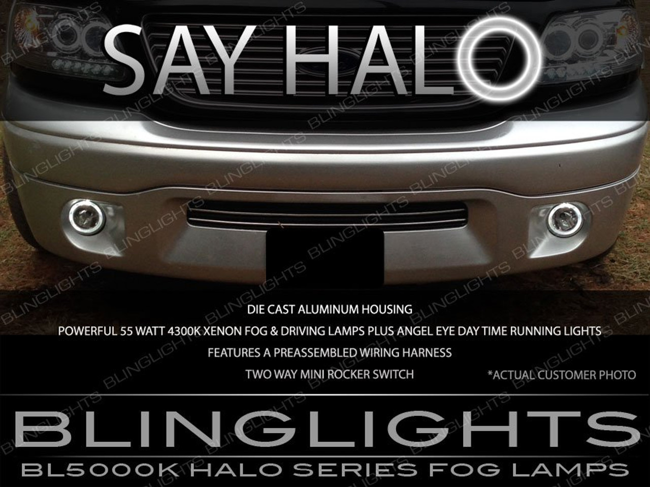 1999-2004 Ford F-150 SVT Lightning Harley Davidson Halo Fog Lamps Driving Lights