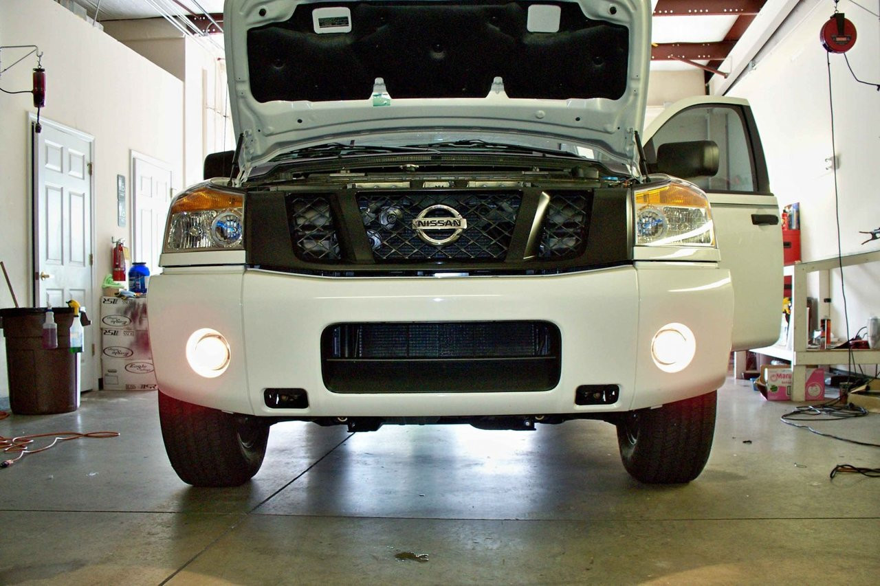 2004-2015 Nissan Titan Halo Fog Lamps Driving Lights Kit