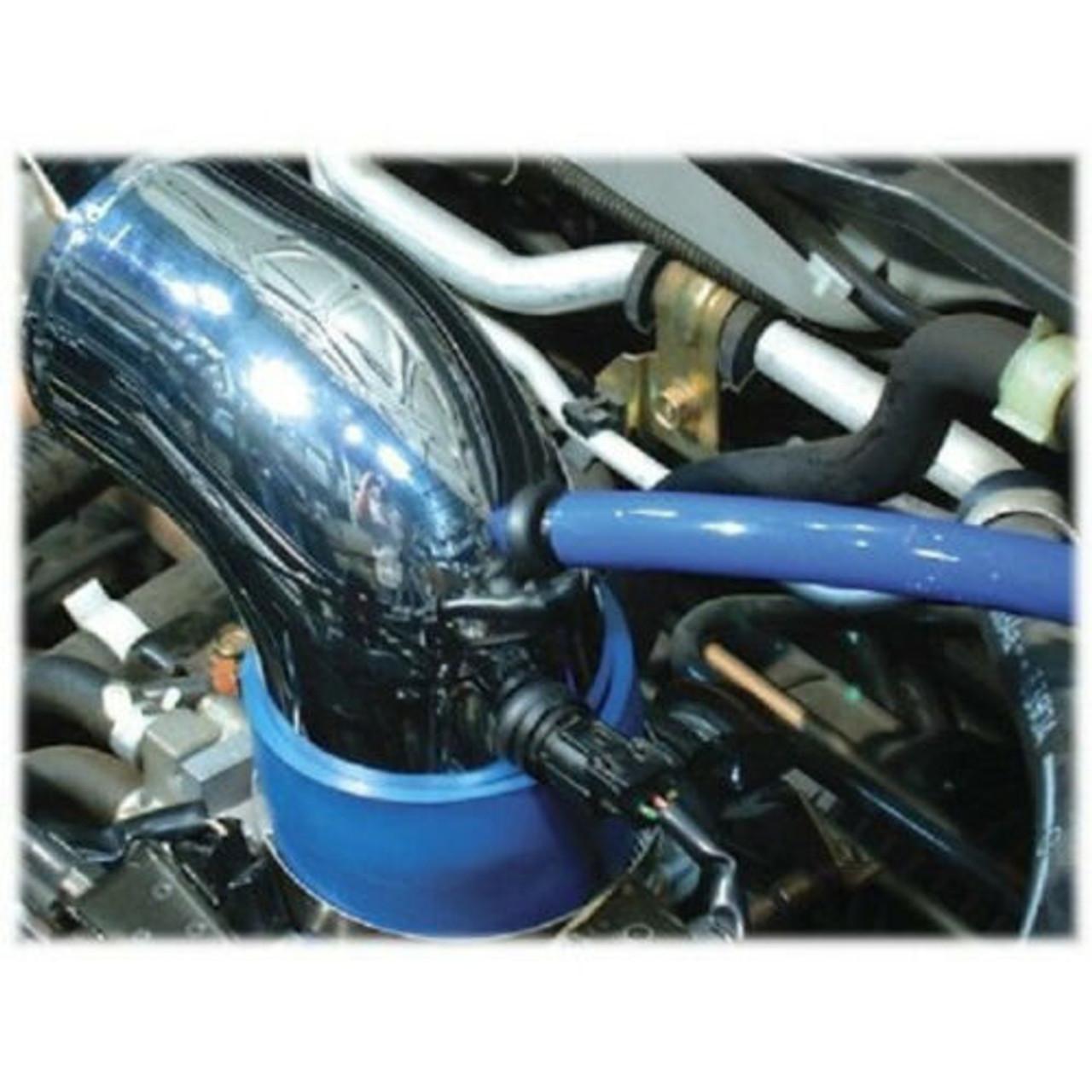 "Details about  Universal 3"" Diameter Carbon Fiber Short Ram Air Intake with Sensor Adapter Kit"