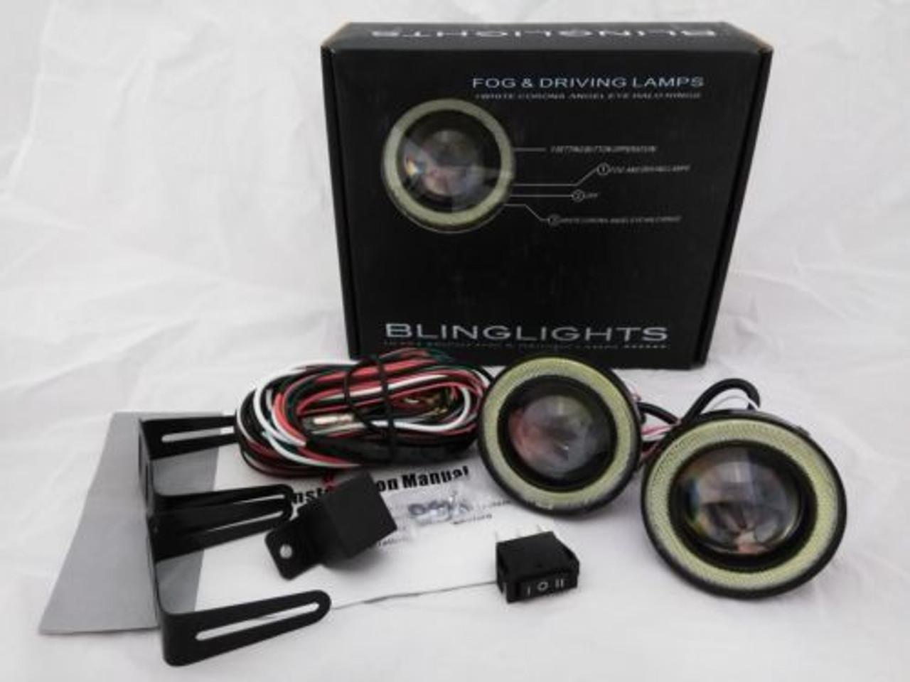 LED Angel Eye Halo Projector Fog Lights for 2021 2022 2023 Toyota Corolla Cross