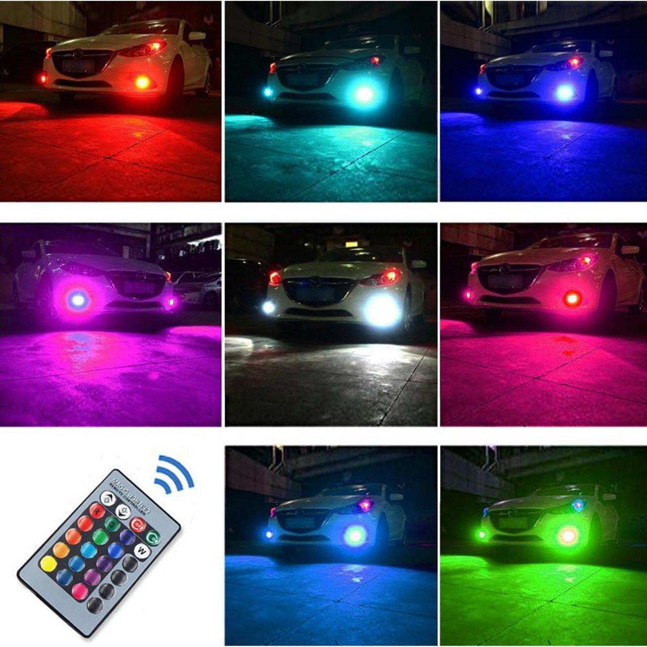Remote Control LED Color Changing H3 LED Bulb Kit Set