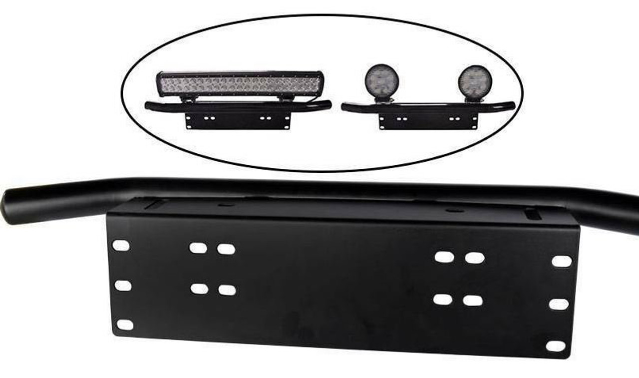 Universal Bumper License Plate Bracket Bar for Auxiliary Lights