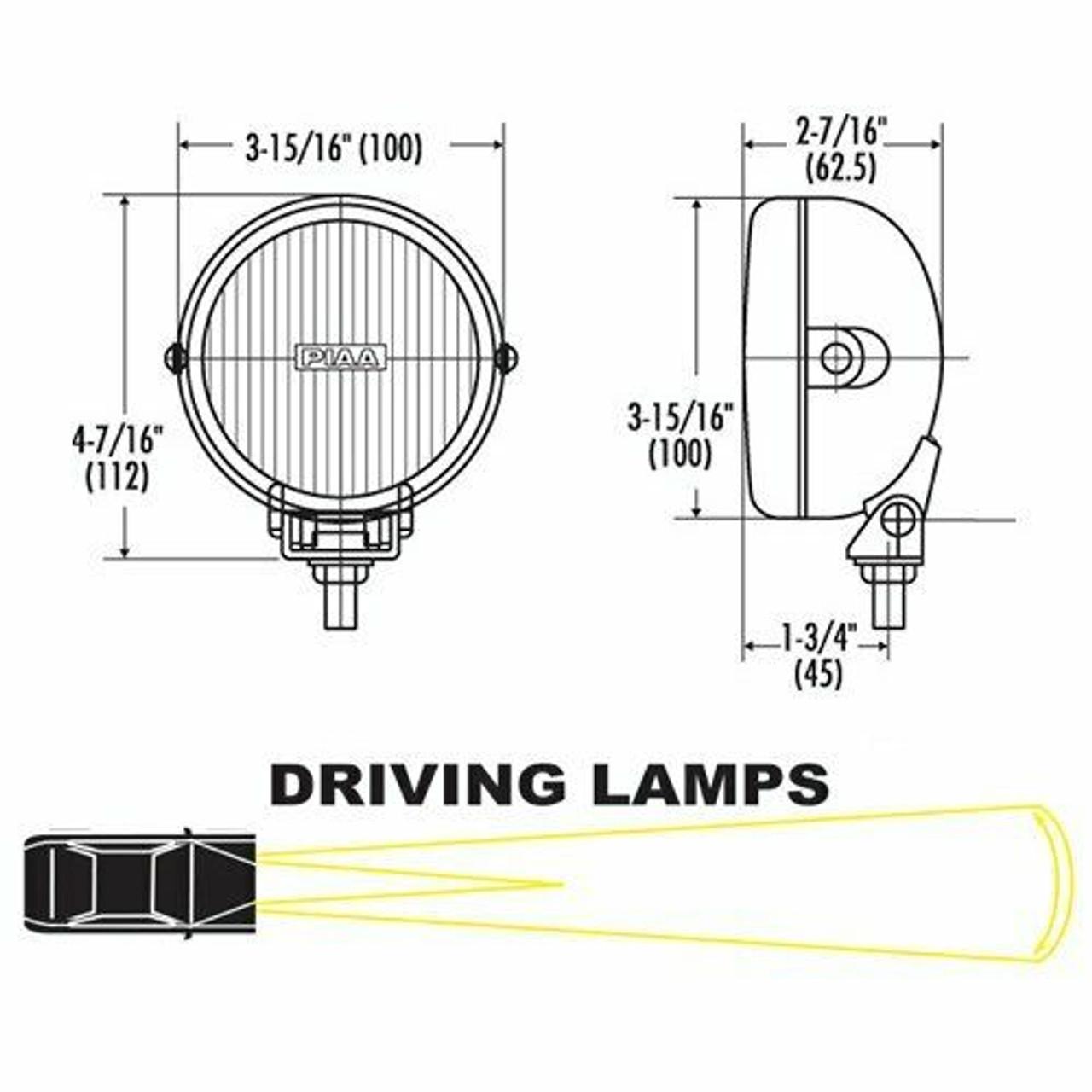 PIAA 510 SMR Driving XTreme White Plus 55w Halogen Lamp Kit 05192