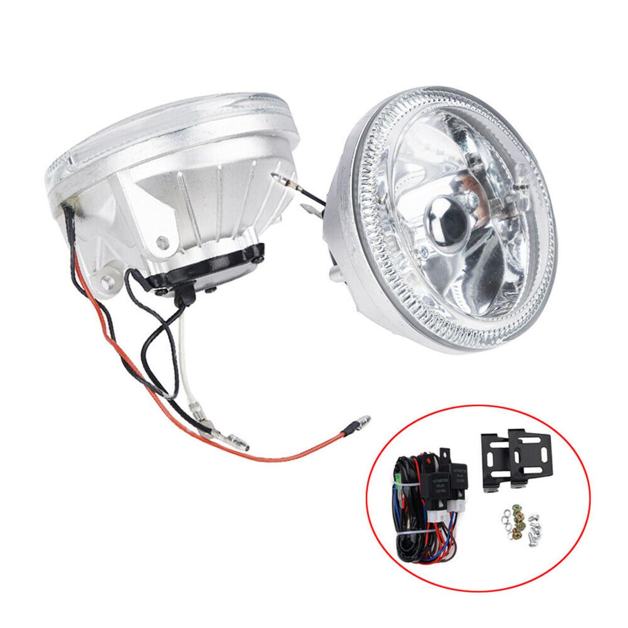 Blue Halo Fog Lamps Angel Eye Lights Kit For 2013-2018 Hyundai Veloster Turbo