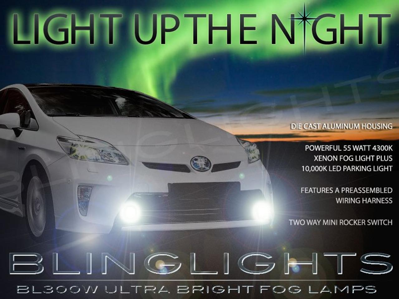 2012 2013 2014 Toyota Prius Fog Lamps Driving Light Kit Xenon