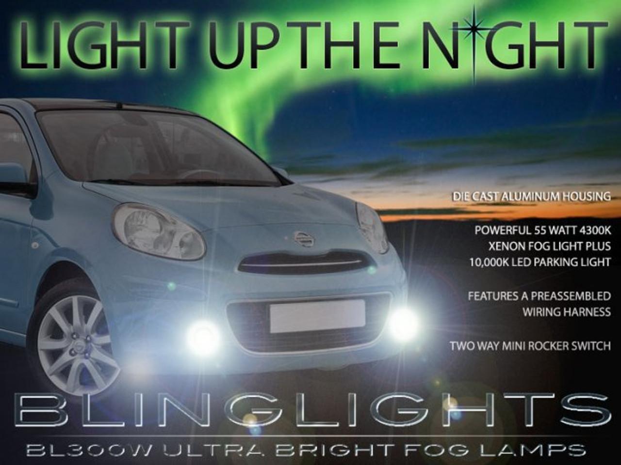 Fits Nissan Micra C+C K12 Blue 4-LED Xenon Bright Side Light Beam Bulbs