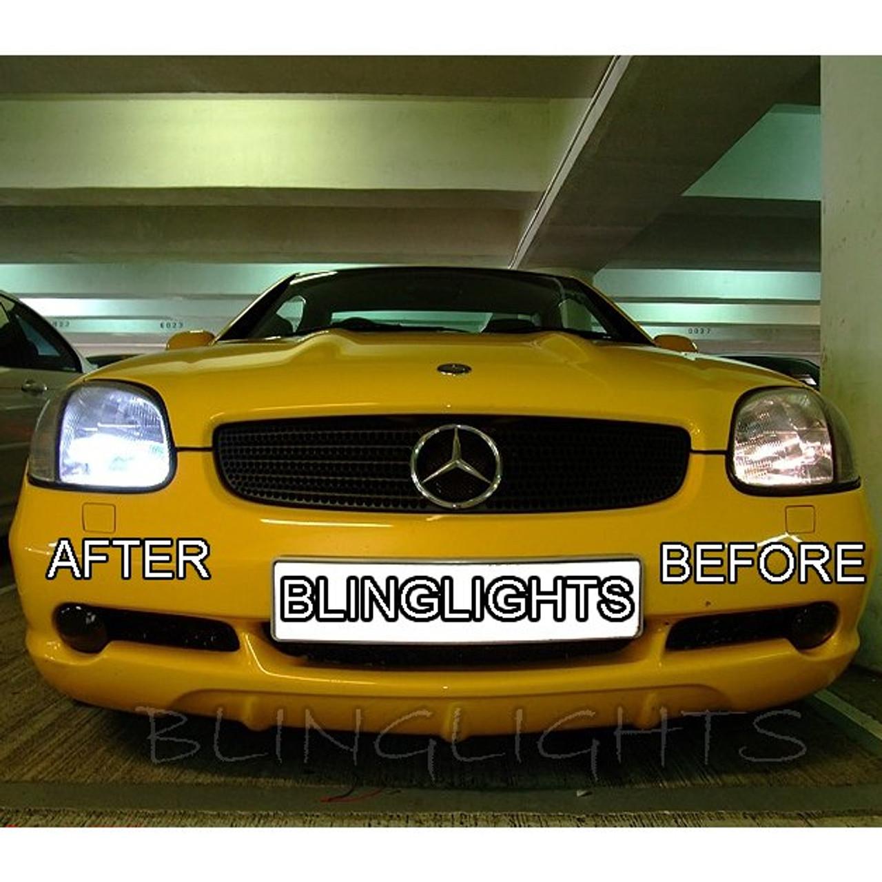 2001 2002 2003 2004 Mercedes-Benz SLK R170 Bright White Light Bulbs for  Halogen Headlamps Headlights