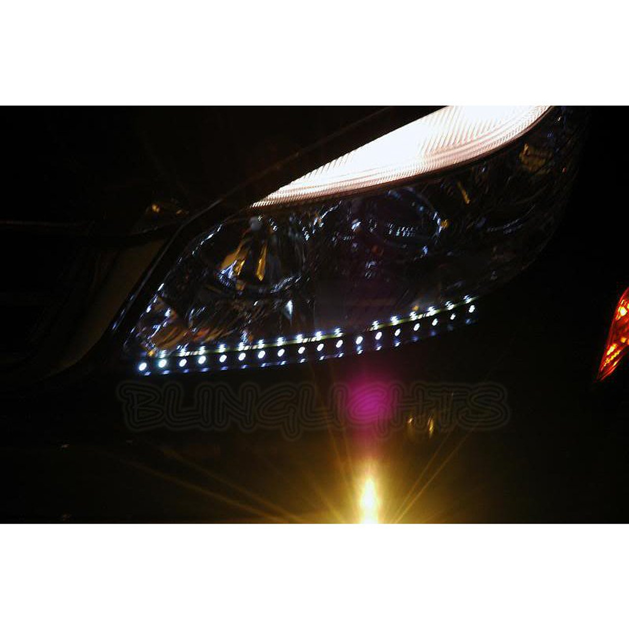 Mercedes C180 LED DRL Strip Lights for Headlamps Headlights Head Light  Lamps LEDs DRLs Strips w204