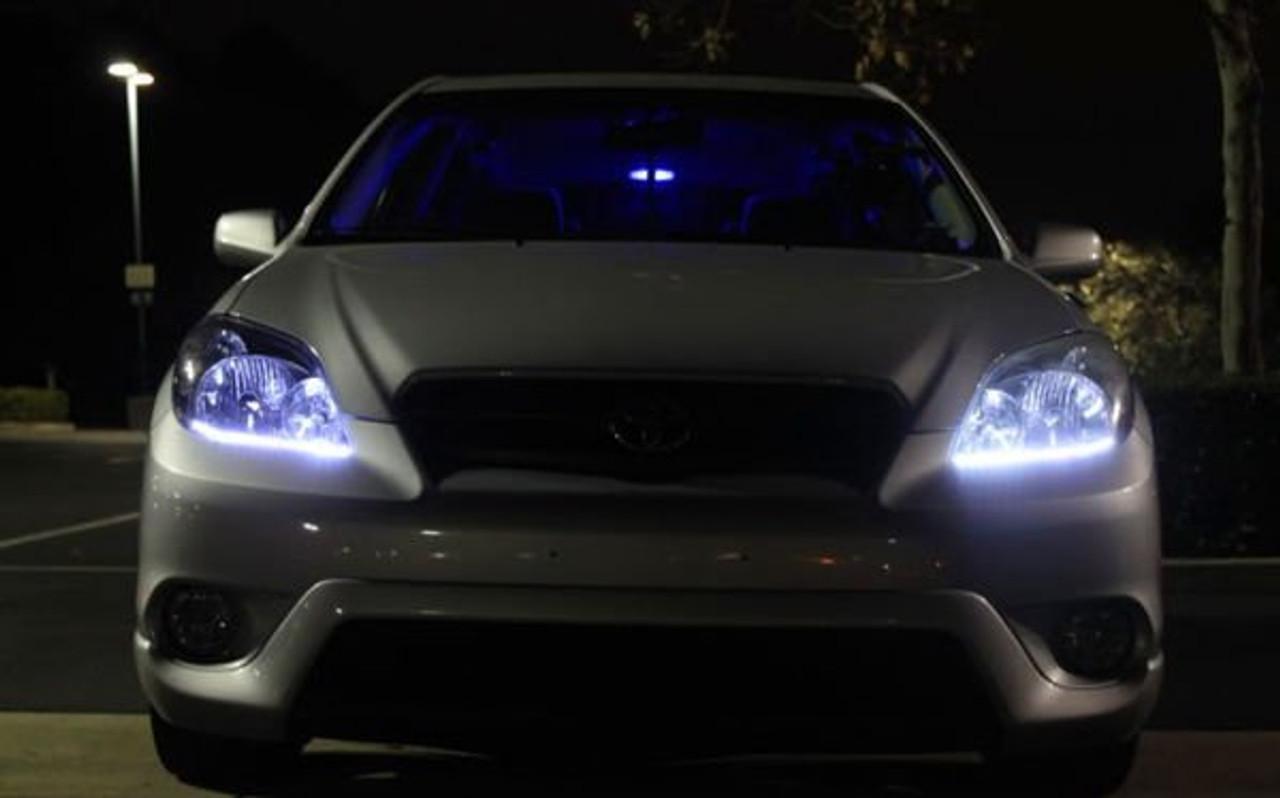 Toyota Matrix LED DRL Head Lamp Strips Daytime Running Lights