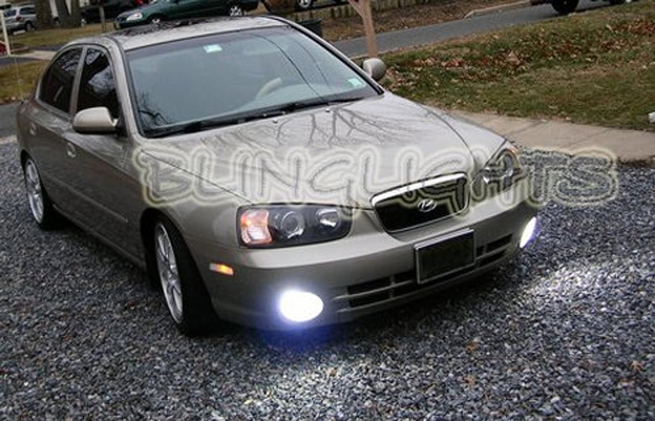 2001 2002 2003 Hyundai Elantra GLS Blue LED Fog Lamp Driving Light Kit