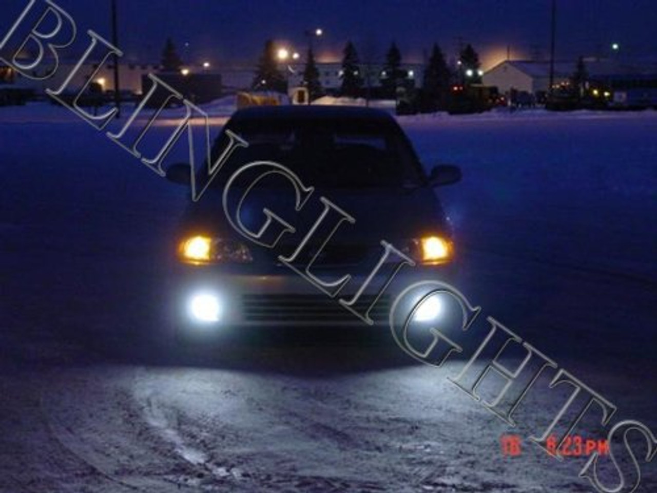 2000 2001 2002 2003 Nissan Sentra Halo Fog Lamps Angel Eye Driving Lights Foglamps Foglights Kit