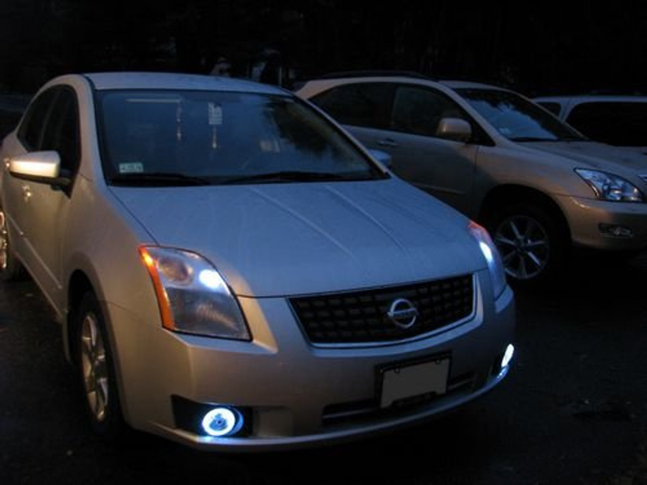 2007 2012 Nissan Sentra Halo Fog Lamps Driving Lights B16 Kit Blinglights Com