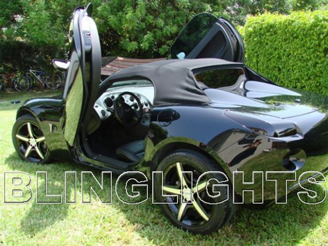 Pontiac Solstice Tinted Smoked Tail Lamp Light Overlays Film Protection