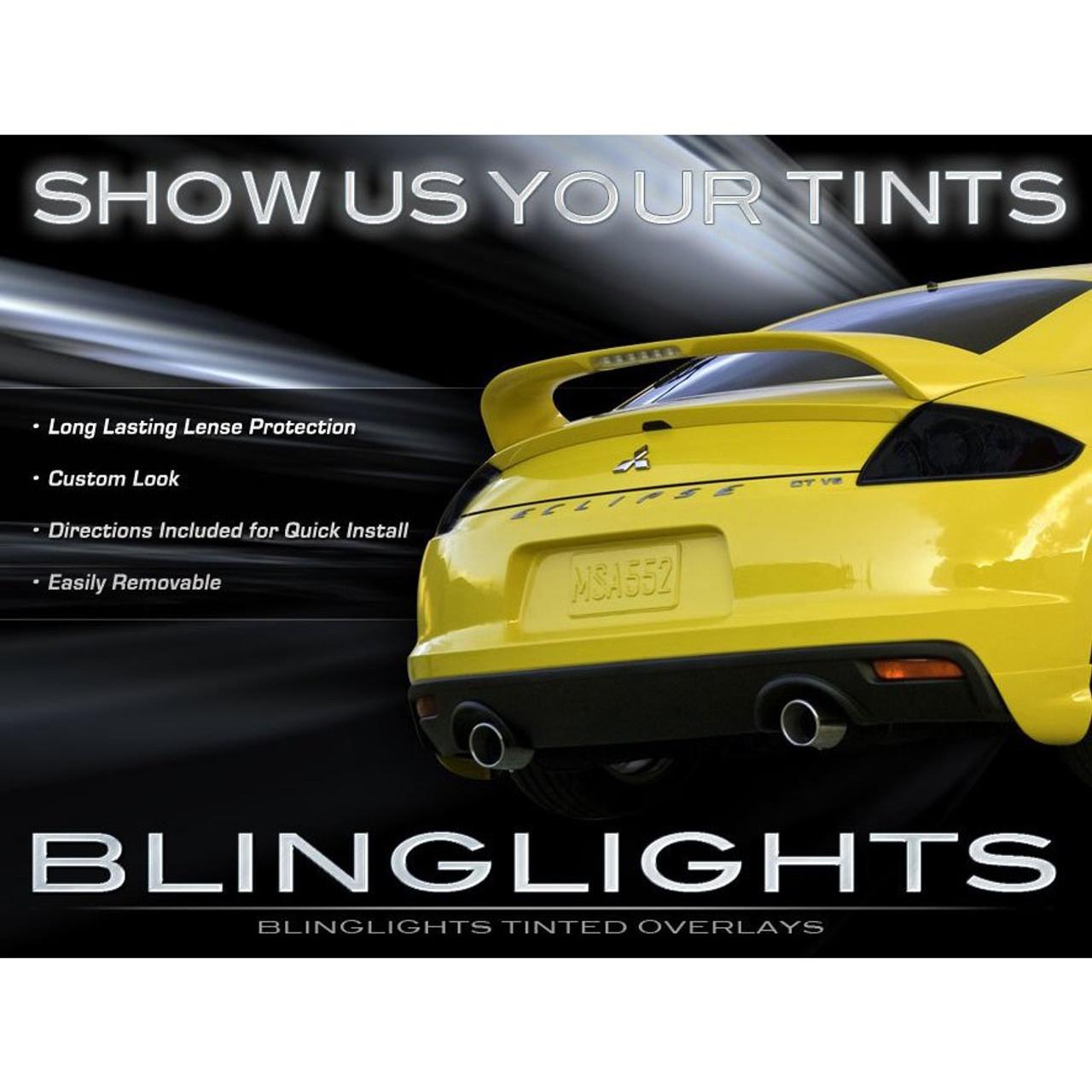 09-12 Mitsubishi Eclipse Tinted Smoked Tail Lamp Lights Overlays Film Protection Kit