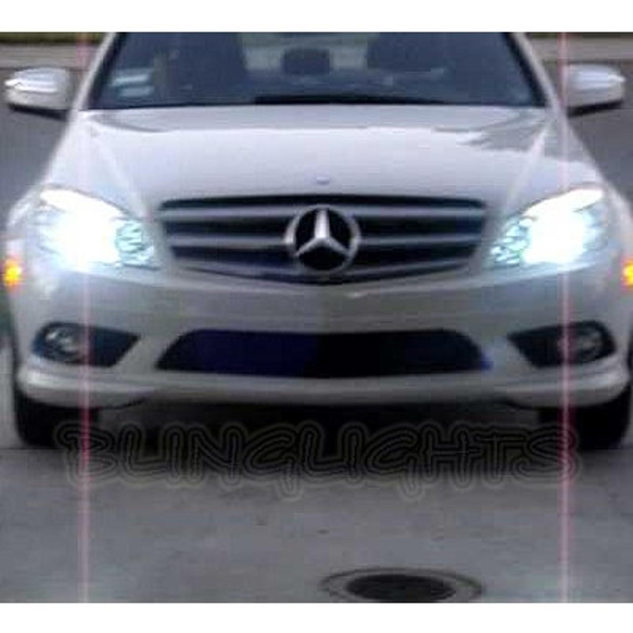 2008 2009 2010 2011 2012 Mercedes-Benz C-Class W204 Bright Light Bulbs for  Halogen Head Lamps Lights