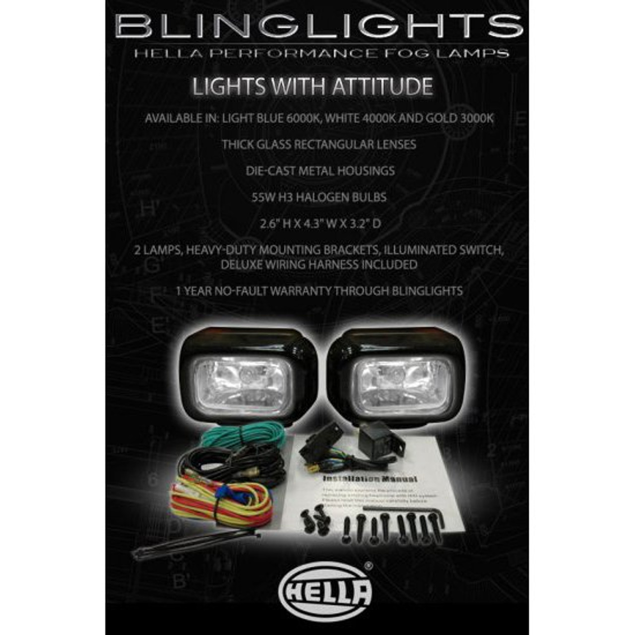 1998 1999 2000 Mercedes-Benz C43 AMG Xenon Fog Lights Driving Lamps Foglamps Kit C 43 w202