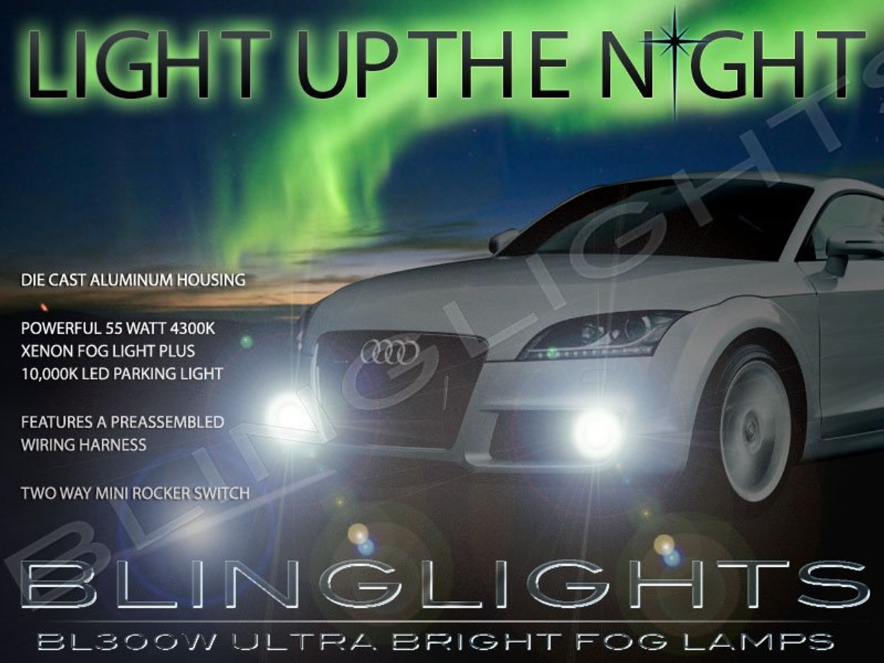 2007 2008 2009 2010 2011 Audi Tt Xenon Fog Lamps Driving Lights Foglamps Foglights Kit