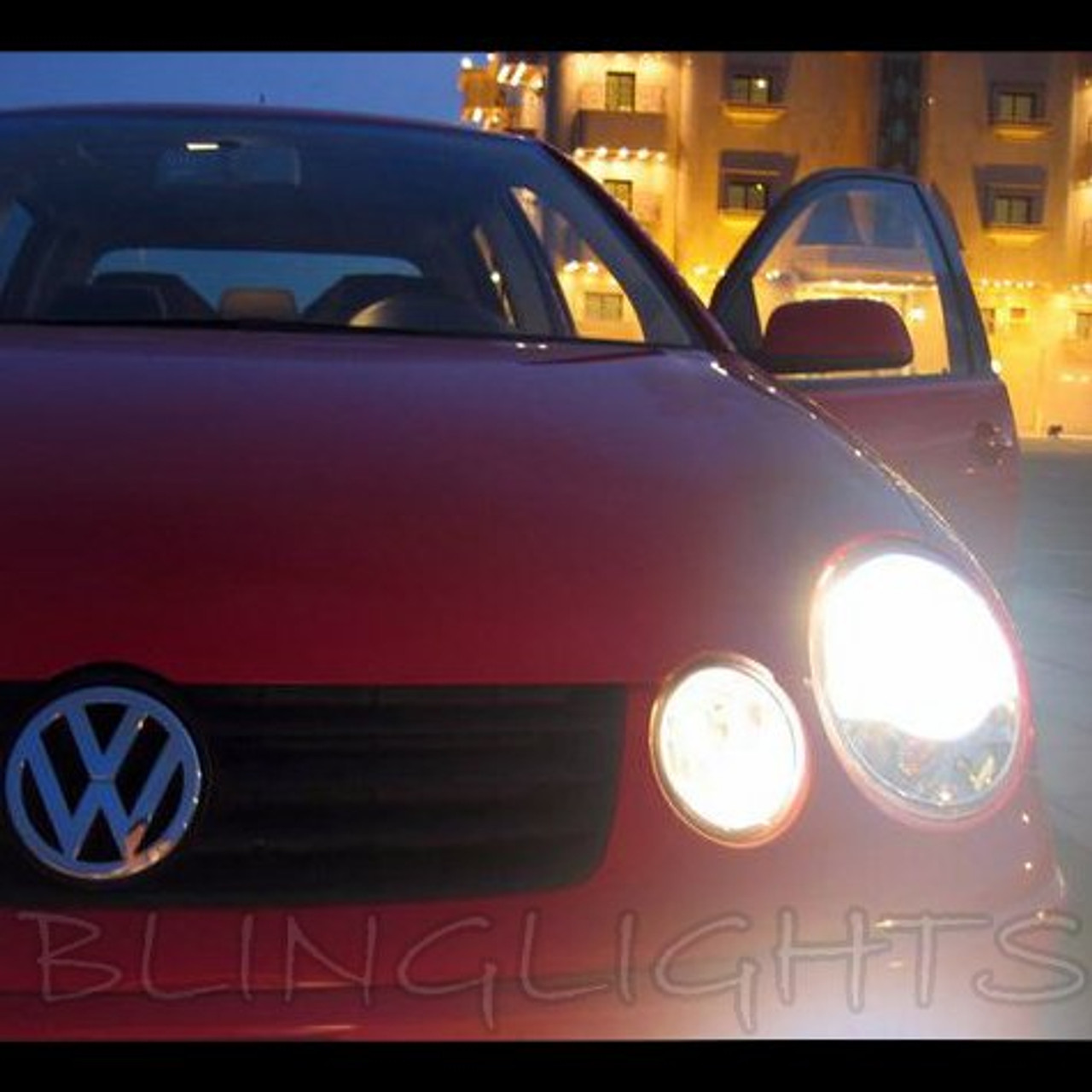 Volkswagen Vw Polo Hid Simulated Head Lamp Light Bulbs Replacement Upgrade Mk4 9n 9n3 6r Gti Blinglights Com