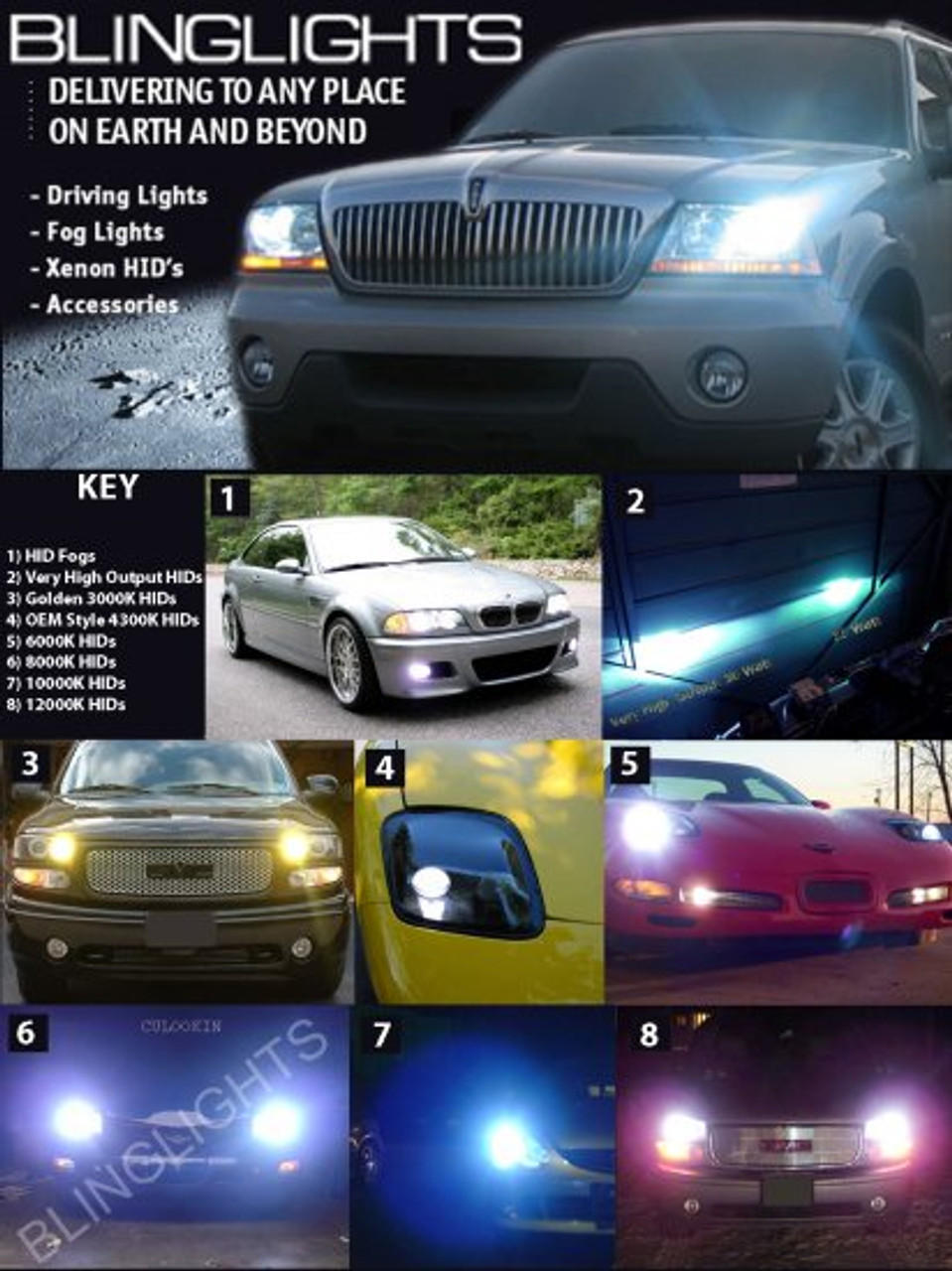 2000 2001 2002 2003 Nissan Maxima Xenon 55 Watt HID Headlamps Headlights Conversion Kit