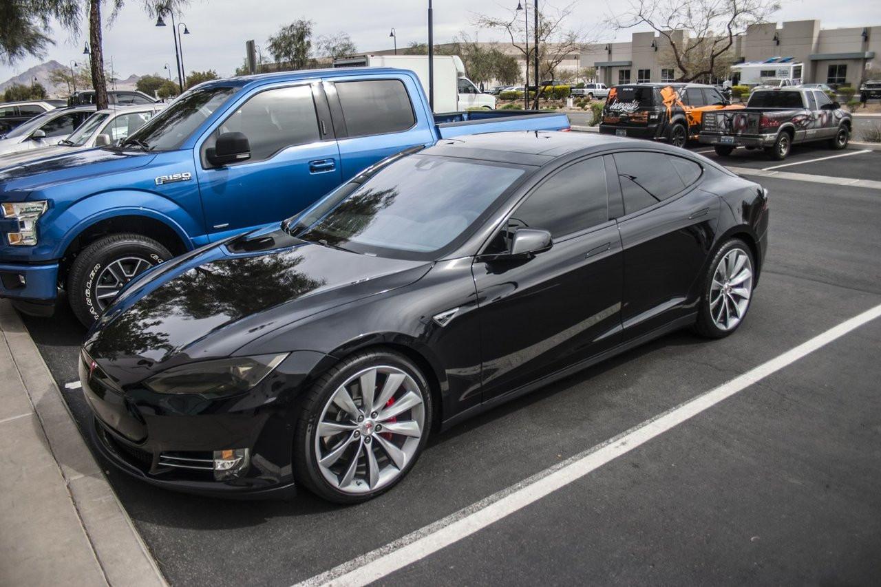 Tesla Model S Tinted Head Light Lens Film Smoked Lamp Overlays