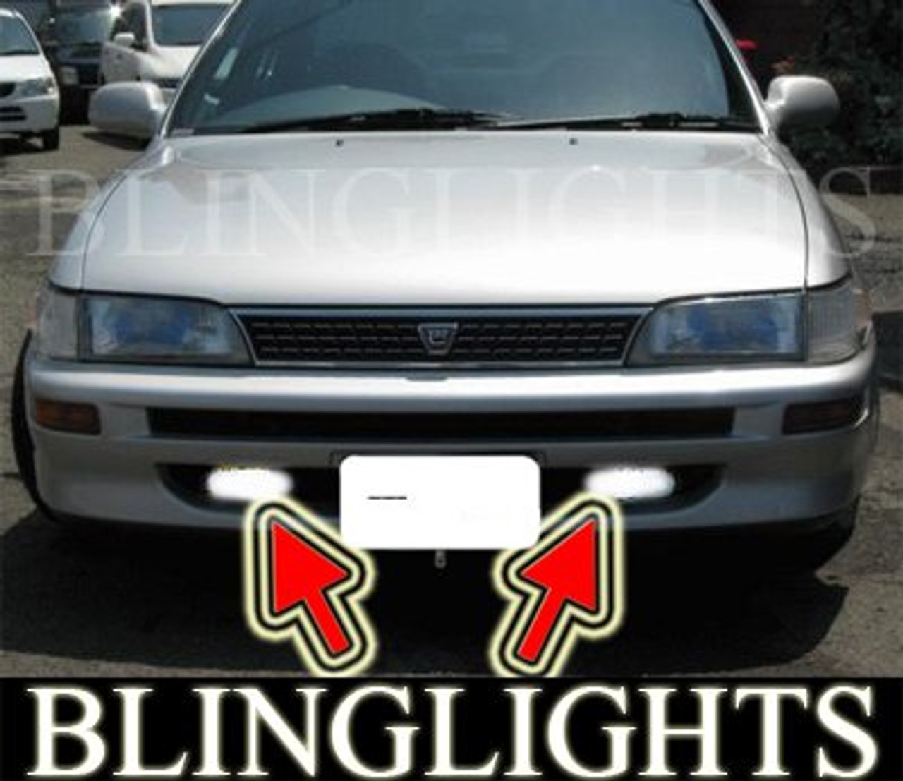 1992 1993 1994 1995 1996 1997 Toyota Corolla Saloon Xenon Fog Lamps Driving Lights Foglamp Foglight