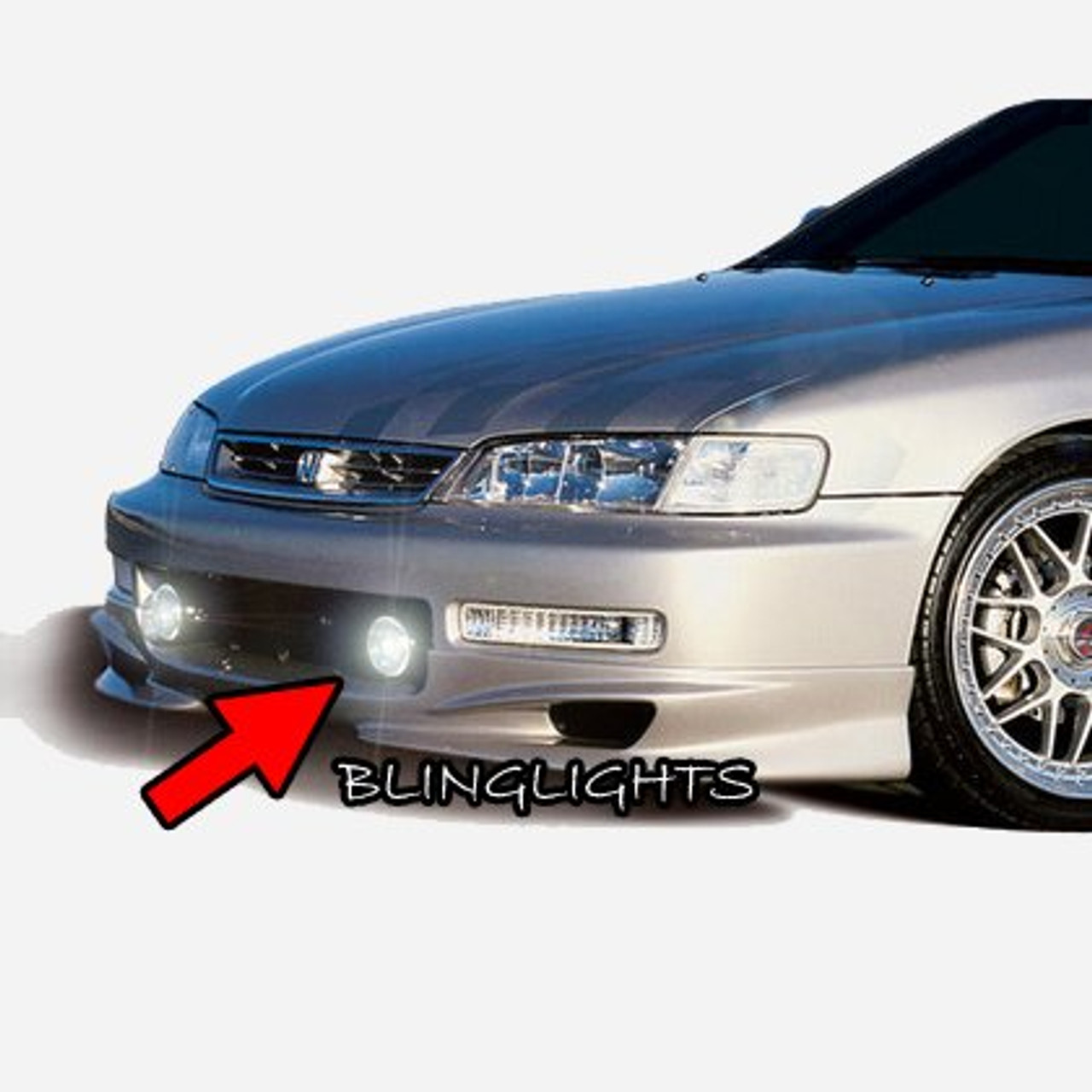1994-2002 Honda Accord Wings West W-Type Body Kit Fog Lamps Bumper Driving Lights Foglamps