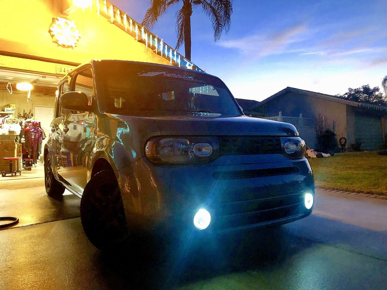 2002 2014 Nissan Cube Angel Eye Halo Fog Light Driving Lamp Kit Z11 Z12 Blinglights Com