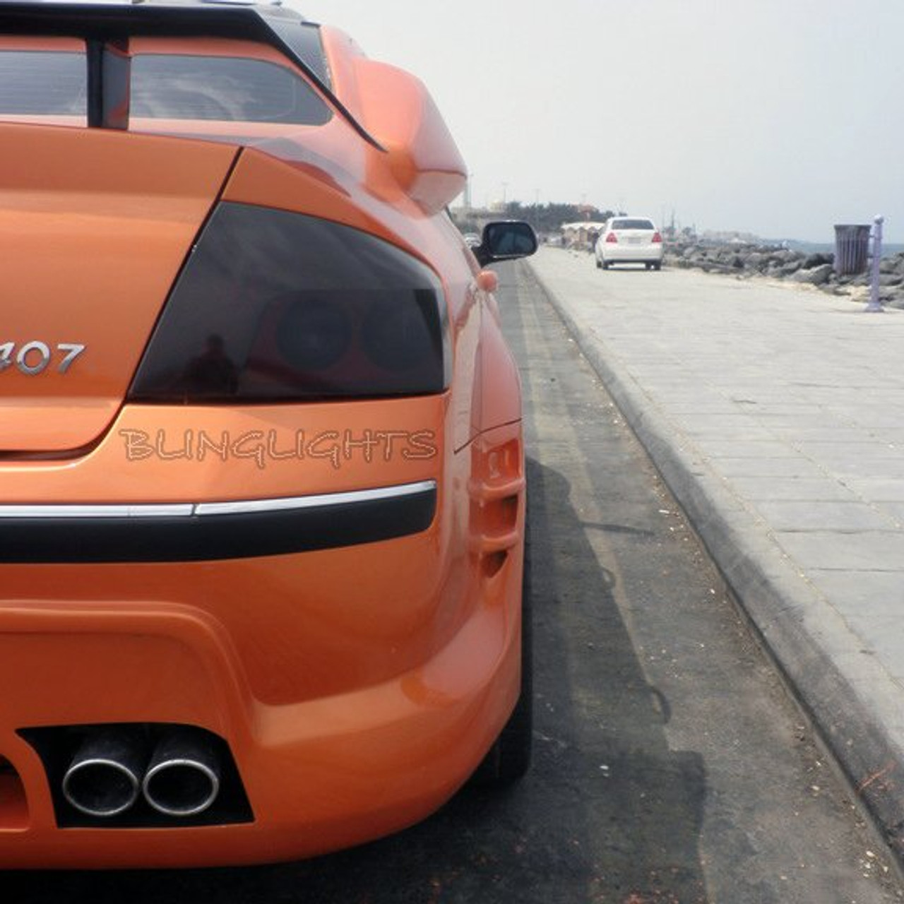 Peugeot 407 Tint Smoke Protection Overlays For Taillamps Taillights Tail Lamps Lights Tinted Film Blinglights Com