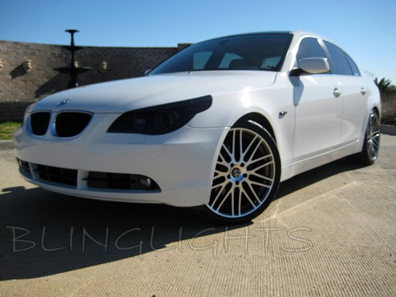 Bmw 5 Series E39 E60 E61 F10 F11 Tinted Smoked Headlamps Headlights Protection Overlays Film Blinglights Com