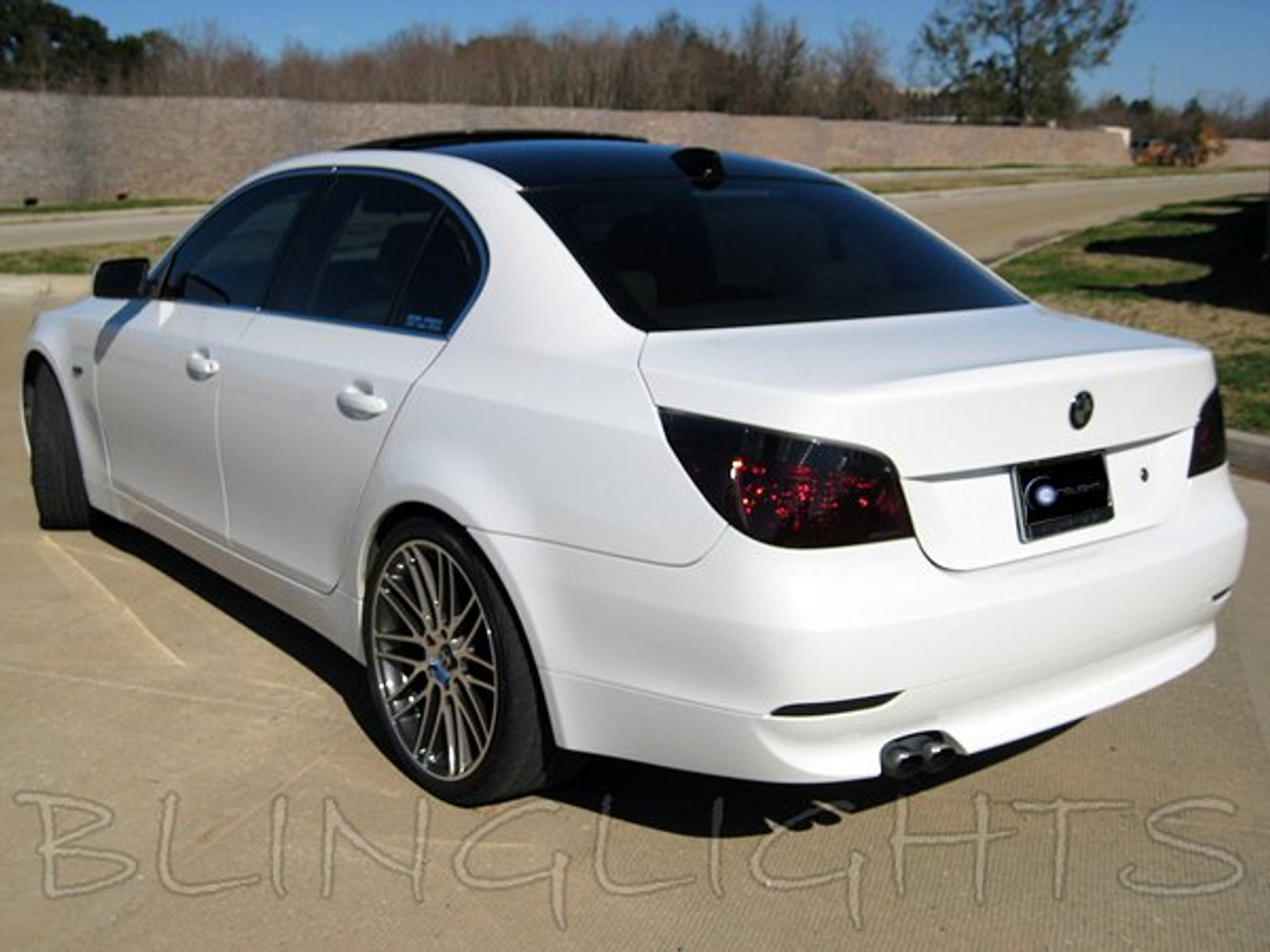 Bmw 5 Series E60 E61 Tinted Tail Lamp Light Overlays Kit Smoked Protection Film Blinglights Com