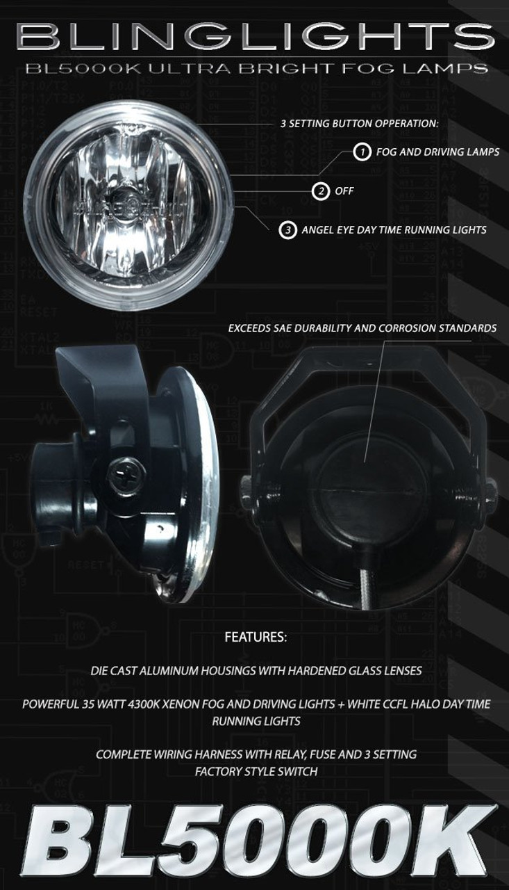 Holden Epica Halo Fog Lamps AngelEye Driving Lights Kit Foglamps Foglights Drivinglights