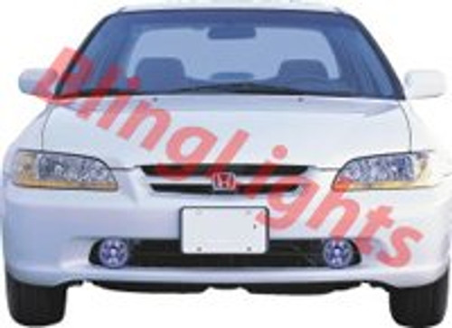 1998 1999 2000 2001 2002 Honda Accord Xenon Fog Lamps Driving Lights Foglamps Foglights Kit