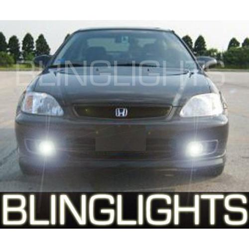 1999 2000 Honda Civic Coupe Si Xenon Foglamps Foglights Fog Lamps Driving Lights Kit