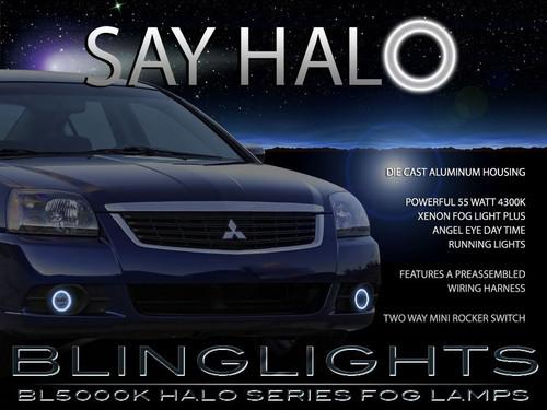 2009 2010 2011 Mitsubishi Galant Halo Foglamps Angel Eye Foglights Driving Fog Lamps Halos Lights