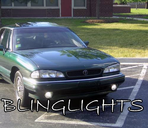 1992-1999 Pontiac Bonneville SE SSE White Halo Fog Lamps Lights Kit