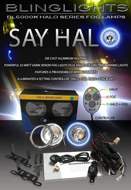 2003 2004 Pontiac Vibe GT Halo Foglamps Angel Eye Foglights Driving Fog Lamps Halos Eyes Lights Kit