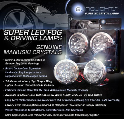 1992-1997 Honda Del Sol LED Fog Lamps Driving Lights Foglamps Foglights Drivinglights Kit