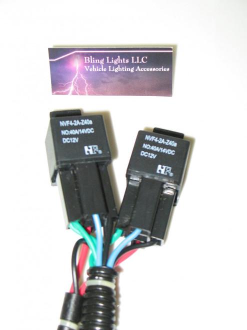 9004 9007 Low Beam HID Conversion Kit Universal Single Beam Relay Wiring Harness