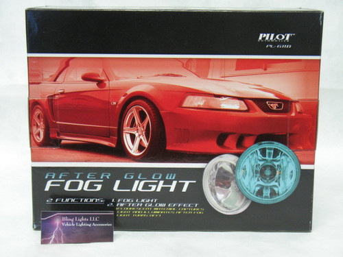 4in Blue Glow Angel Eye Fog Lamps Round Halo Wireless Remote Control Lights Kit