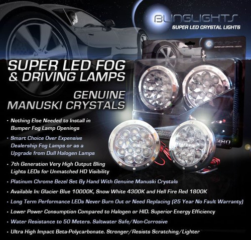 2011 2012 2013 Volkswagen Touran LED Foglamps Foglights Driving Fog Lamps Lights Kit VW