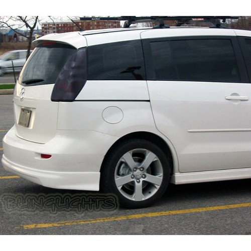 2005-2010 Mazda Premacy Smoked Tail Light Lamp Overlays Kit Tinted Protection Film