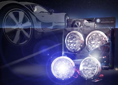 2018 2019 Honda Odyssey Blue LED Fog Lamps Driving Lights Kit